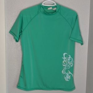 Kanu surf green short sleeve spf swim shirt top